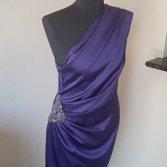 Eliza J Dresses & Skirts - Eliza J Purple Cocktail Dress Size 12 One Shoulder